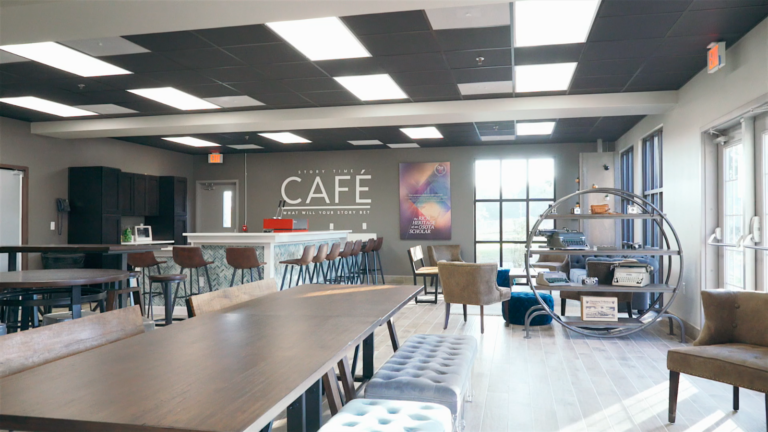 MBSI portfolio image of a modular buildings interior commercial cafe' space