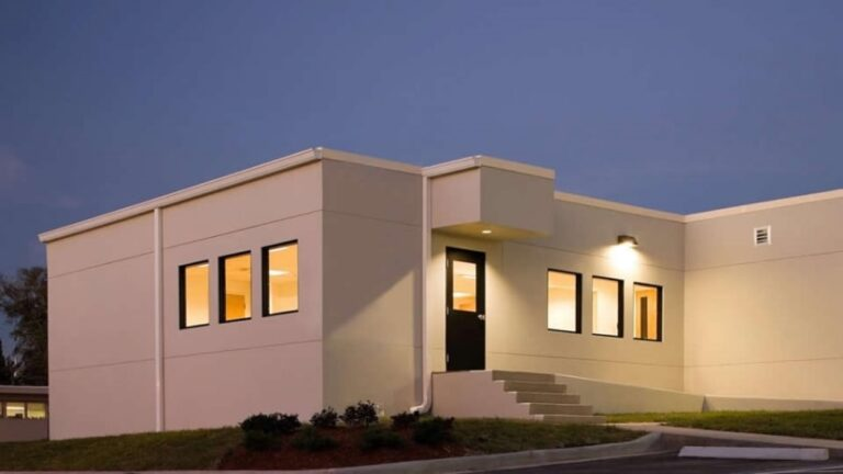 MBSI portfolio piece for modular buildings in the healthcare industry at Shands in Gainesville FL